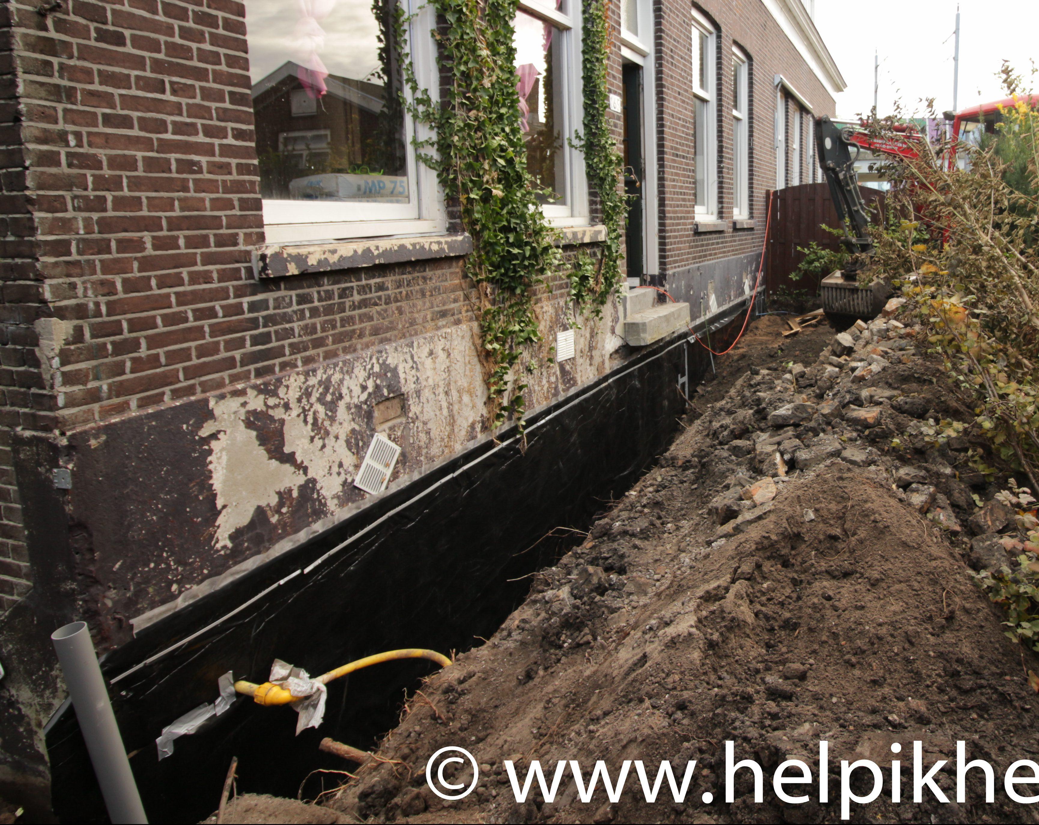 Hoe maak je de keldermuur van een dijkhuis waterdicht for Huis waterdicht maken